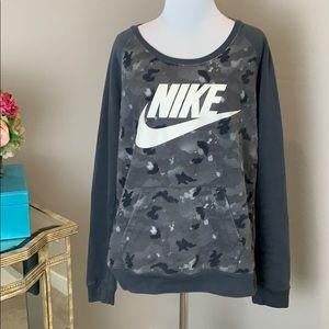 Nike gray camo sweatshirt